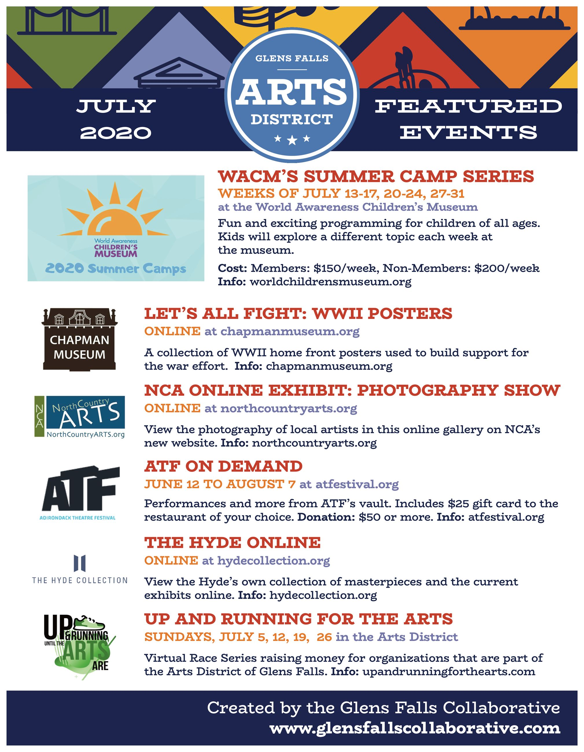 Arts Events July 2020